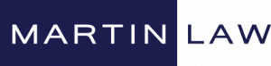 blue and white martin law logo